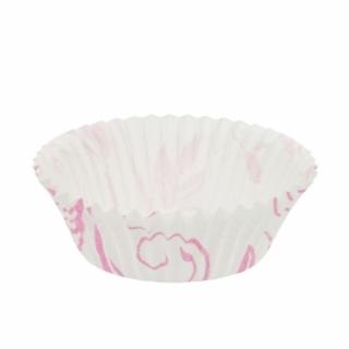 Капсулы для маффинов розовые 40x21
