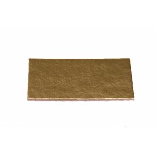 Подложка прямоугольная золотая 9*5 см,  h-1мм (200 шт)