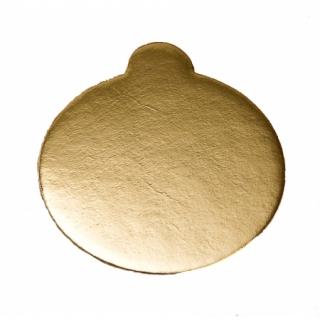 Подложка круглая золотая D5 см,  h-1мм (200 шт)