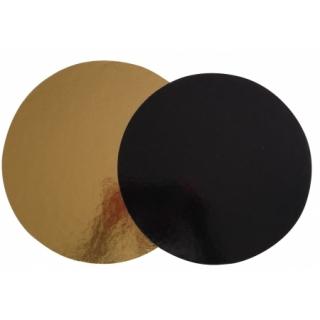 Подложка круглая  золотая / черная D30 см, h-3мм