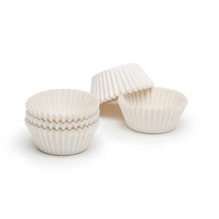 Капсулы для маффинов белые 40x21