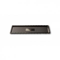 Поднос MEDORO прямоугольный чёрный d 15*35 см