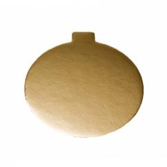 Подложка круглая золотая D8 см,  h-1мм (200 шт)