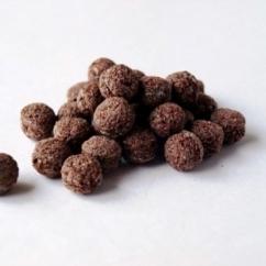 Рис воздушный с какао шарики 2-4 мм.