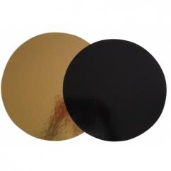 Подложка круглая  золотая / черная D24 см,  h-3мм