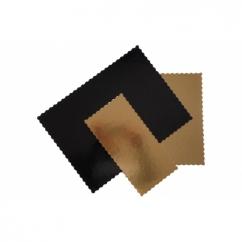 Подложка прямоугольная фигурная золотая / черная 30х40,  h-3мм