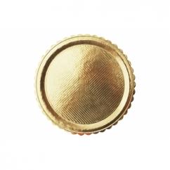 Поднос круглый золотой D34 см, h-3мм