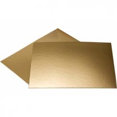 Подложка прямоугольная золотая 40х60,  h-3мм