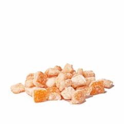 Засахаренные апельсиновые кубики в пудре