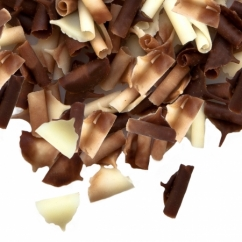 Шоколадные лепестки, двойные(черный и белый шоколад)