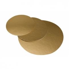 Подложка круглая золотая D28 см,  h-1мм