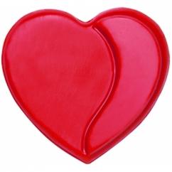 Шоколадные сердца красные